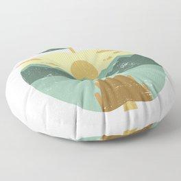 Vintage Panorama Apple Floor Pillow