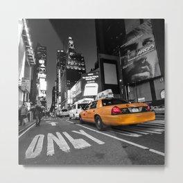 Manhattan nite taxi  Metal Print
