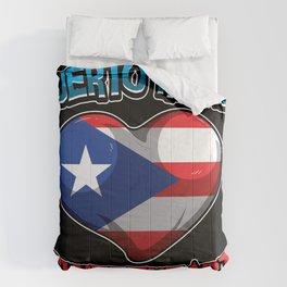 Puerto Rican Sweetheart - Boricua Heart Comforters