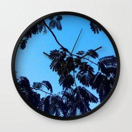 Mimosa Tree Print Wall Clock