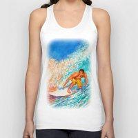 surfer Tank Tops featuring Surfer by LiliyaChernaya