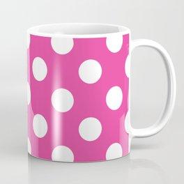 Barbie Pink - pink - White Polka Dots - Pois Pattern Coffee Mug