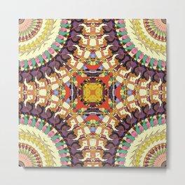 Abstract Colorful Mandala Metal Print