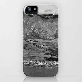 Clouds over the mountains iPhone Case
