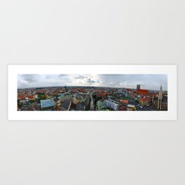 View from St Peter's Church, Munich, Germany Art Print