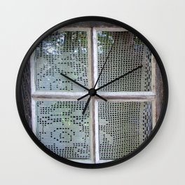 Crochet Curtain 1967 Wall Clock
