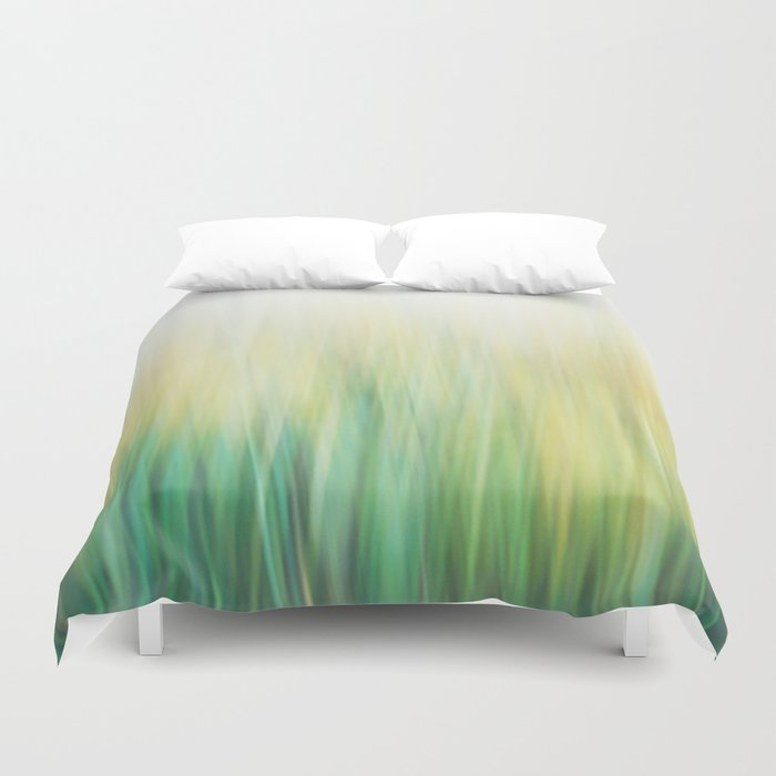 Grass abstract Duvet Cover