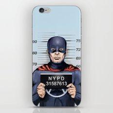 superhero in trouble iPhone & iPod Skin