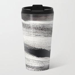 Black Strokes Travel Mug
