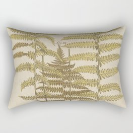 Vintage Fern Botanical Rectangular Pillow