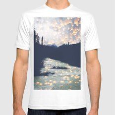 Make a wish -Yoho National park MEDIUM White Mens Fitted Tee