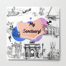 My Sanctuary! Books/Reading Illustration Metal Print
