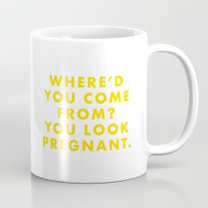 The Life Aquatic - Where'd you come from? You look pregnant. Mug