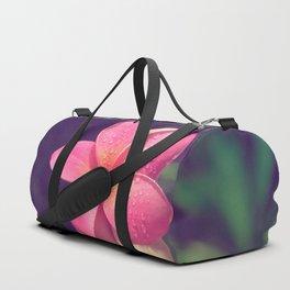 pua melia pink tropical plumeria hawaii Duffle Bag