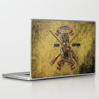 hufflepuff Laptop & iPad Skins featuring Hufflepuff  Hogwarts Team Captain by JanaProject