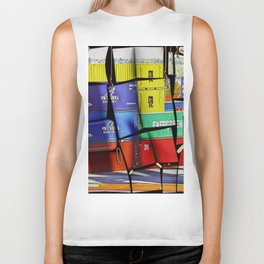 Colorful container wall board Biker Tank
