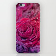 Bed of darkred roses - Red rose bunch iPhone & iPod Skin