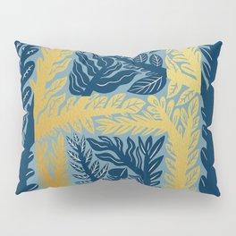Botanical Metallic Monogram - Letter H Pillow Sham