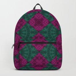 Green raspberry patchwork Backpack