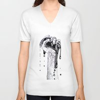 technology V-neck T-shirts featuring Fluidity of Technology by Liam Reading