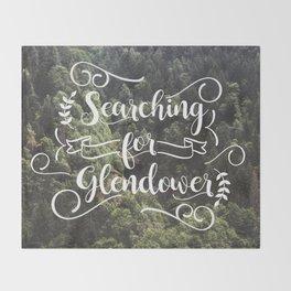 Searching for Glendower Throw Blanket