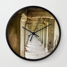 Angkor Wat Leading Lines, Cambodia Wall Clock