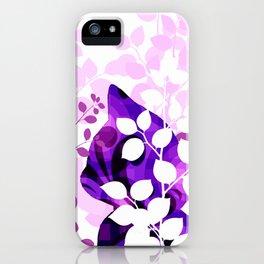 Purple Calico Cat iPhone Case