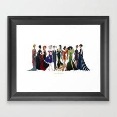 Avengers Gowns: Full Series Framed Art Print