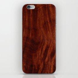 Beautiful Unique mahogany red wood veneer design iPhone Skin