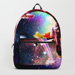 Outer Space Taco Cat - Rainbow Laser Eyes, Burrito Backpack