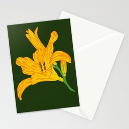 Blooming Lily / Yellow and Red Stationery Cards