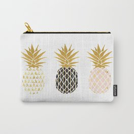 fun pineapple design gold Carry-All Pouch