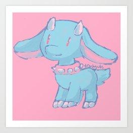 Tough goat Art Print