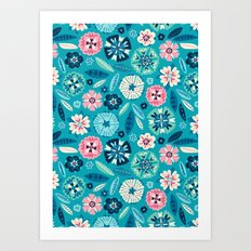 Flower Pop Art Print
