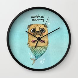 Magical Merpug Wall Clock