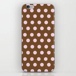 Pink & Brown dot iPhone Skin