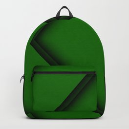 green arrows artwork creative abstract arrows green material design geometric shapes arrows geometry Backpack