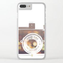 Camera rainbow Clear iPhone Case