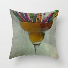 CRAYON LOVE : Addiction Throw Pillow