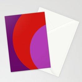 Cercle  violet orange Stationery Cards