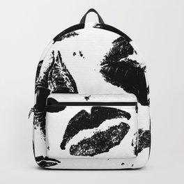 Kisses All Over (Black & White) Backpack