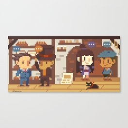 Phoenix Wright VS Professor Layton: Bakery Canvas Print