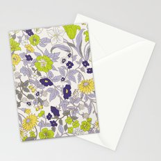 floral garden - blues and greens Stationery Cards