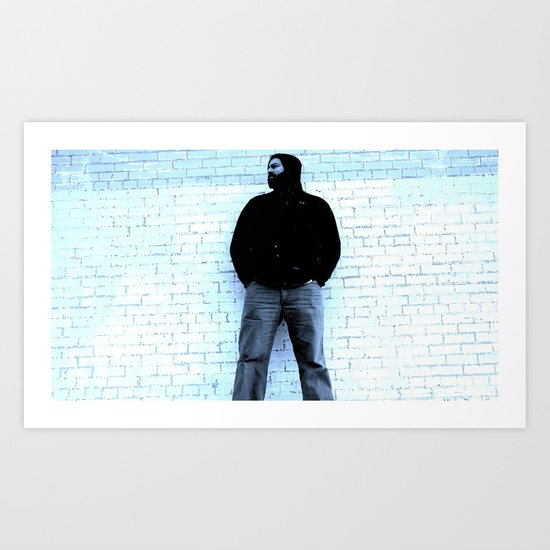 Holding the Wall Up Art Print