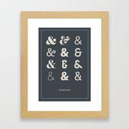 Ampersand Print Framed Art Print