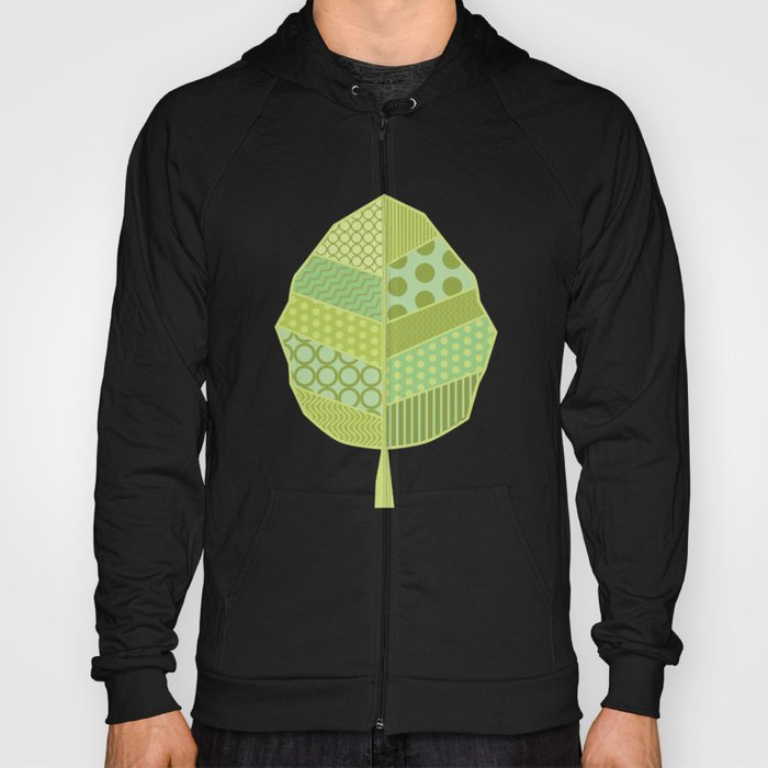 The Unique One (Green Patterned Leaf Patchwork) Hoody