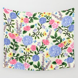 French Country Garden Print Wall Tapestry