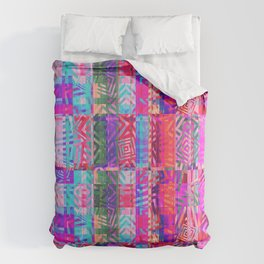 Abstract Coloured Distortion Comforters
