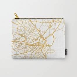 BOSTON MASSACHUSETTS CITY STREET MAP ART Carry-All Pouch