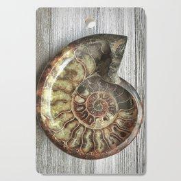 Ammonite fossil Cutting Board